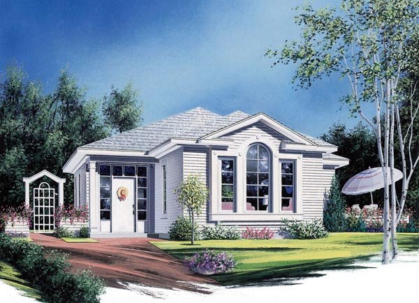 European House Plan 65393 Elevation
