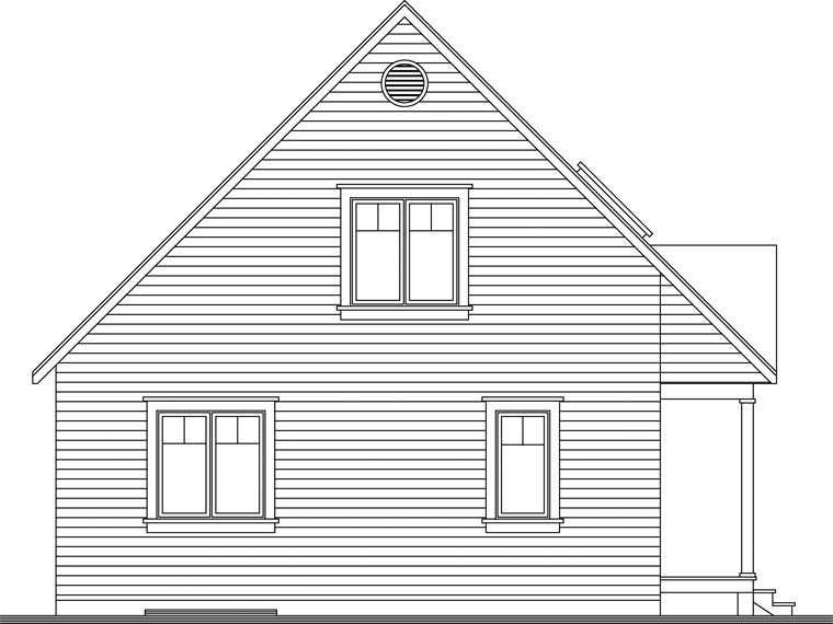 Country Rear Elevation of Plan 65394