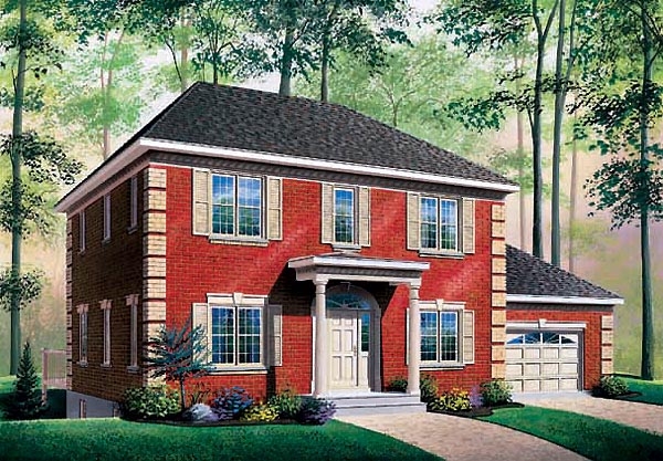 Colonial House Plan 65396 Elevation