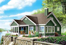 Bungalow Traditional House Plan 65399 Elevation