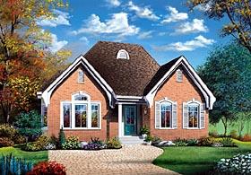 European Traditional House Plan 65401 Elevation