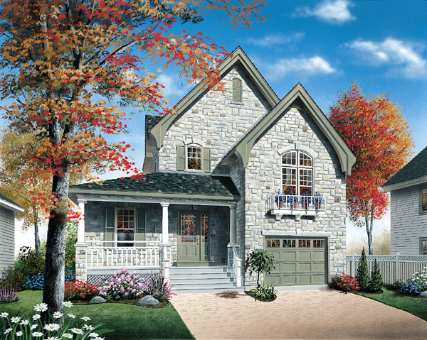 Country , Traditional House Plan 65403 with 3 Beds, 2 Baths, 1 Car Garage Elevation