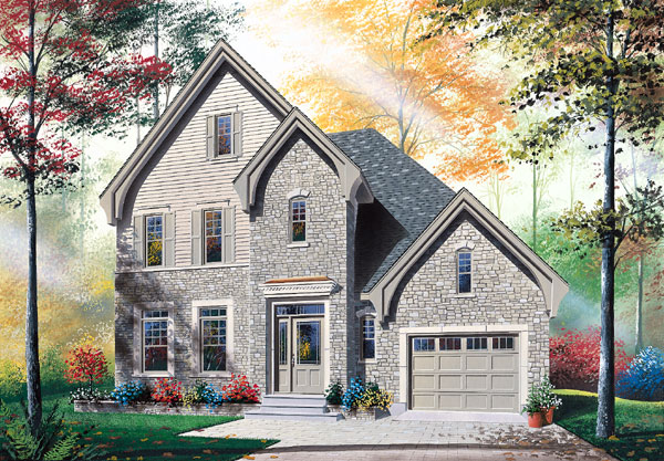 European Traditional House Plan 65405 Elevation