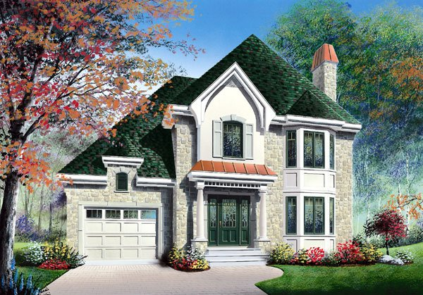 European Traditional House Plan 65406 Elevation