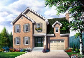 House Plan 65407 | Traditional Style Plan with 1578 Sq Ft, 3 Bedrooms, 3 Bathrooms, 1 Car Garage Elevation