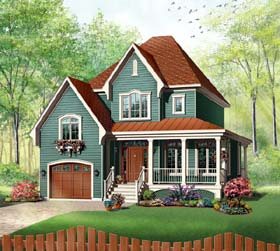 Country Farmhouse Victorian House Plan 65411 Elevation