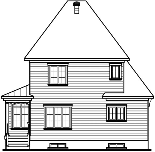 Country Farmhouse Victorian House Plan 65411 Rear Elevation