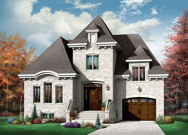 European House Plan 65412 Elevation