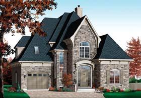 European Tudor House Plan 65413 Elevation