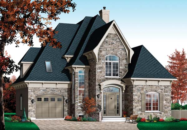 European Tudor House Plan 65413 Elevation