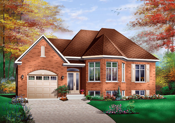 Contemporary, European House Plan 65415 with 2 Beds, 1 Baths, 1 Car Garage Front Elevation