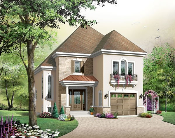 European House Plan 65420 Elevation
