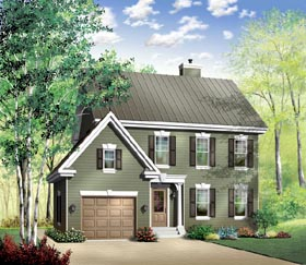 Colonial Southern Traditional House Plan 65421 Elevation