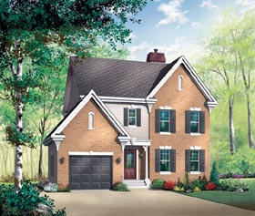 Traditional House Plan 65422 Elevation