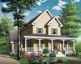 House Plan 65423 | Country Southern Style Plan with 2008 Sq Ft, 4 Bedrooms, 4 Bathrooms, 2 Car Garage Elevation