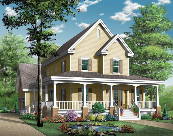Country Southern House Plan 65423 Elevation