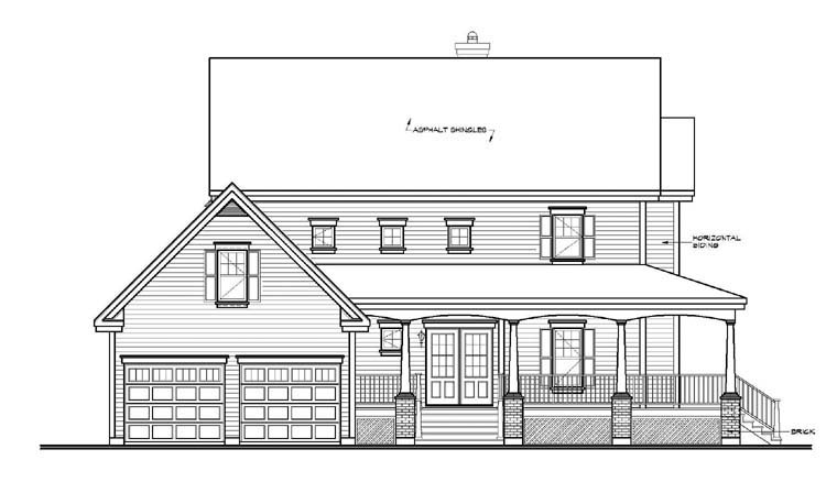 Country, Southern House Plan 65423 with 4 Beds, 4 Baths, 2 Car Garage Picture 1