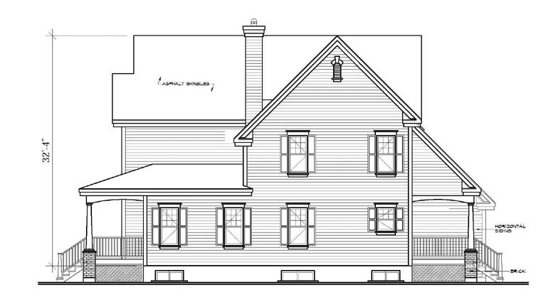 Country, Southern House Plan 65423 with 4 Beds, 4 Baths, 2 Car Garage Picture 2