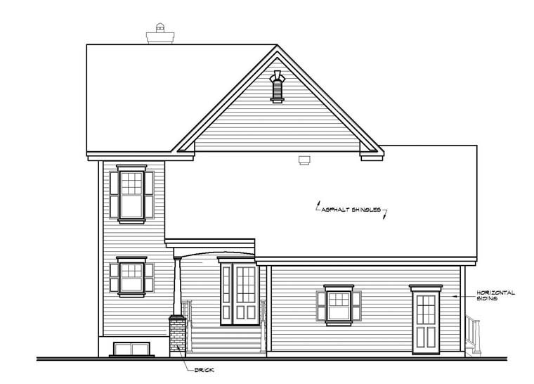 House Plan 65423 | Country Southern Style Plan with 2008 Sq Ft, 4 Bedrooms, 4 Bathrooms, 2 Car Garage Rear Elevation