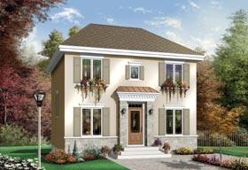 Colonial House Plan 65427 Elevation