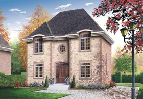House Plan 65429 | Colonial European Style Plan with 1650 Sq Ft, 3 Bedrooms, 2 Bathrooms Elevation