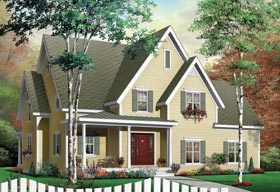 Country Southern Tudor House Plan 65430 Elevation