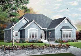Bungalow Country European House Plan 65433 Elevation