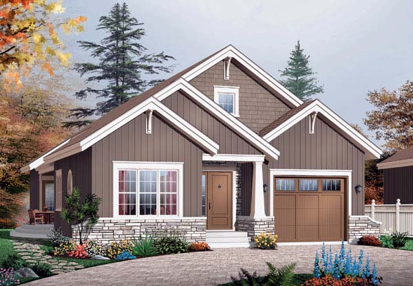 Bungalow Country Craftsman House Plan 65435 Elevation