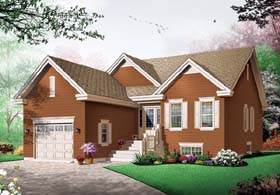 House Plan 65436 | Bungalow, Country Style House Plan with 1394 Sq Ft, 3 Bed, 1 Bath Elevation