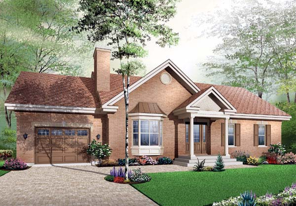 Bungalow House Plan 65438 Elevation