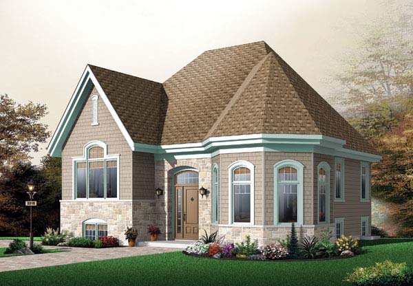 House Plan 65439 | Country Traditional Victorian Style Plan with 1086 Sq Ft, 2 Bedrooms, 1 Bathrooms Elevation