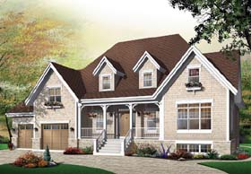 Country , European , Traditional House Plan 65440 with 3 Beds, 3 Baths, 2 Car Garage Elevation