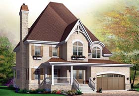Country European House Plan 65442 Elevation