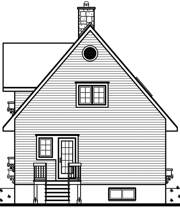 House Plan 65443 Rear Elevation