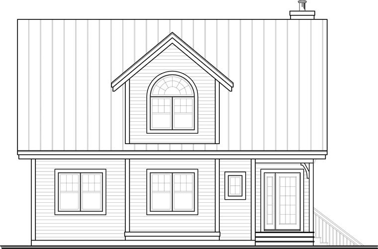 Country House Plan 65445 Rear Elevation