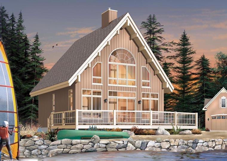 A-Frame House Plan 65446 Elevation