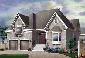 European Traditional House Plan 65447 Elevation