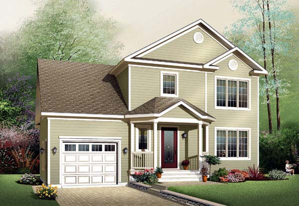 Country House Plan 65448 with 3 Beds, 2 Baths, 1 Car Garage Elevation