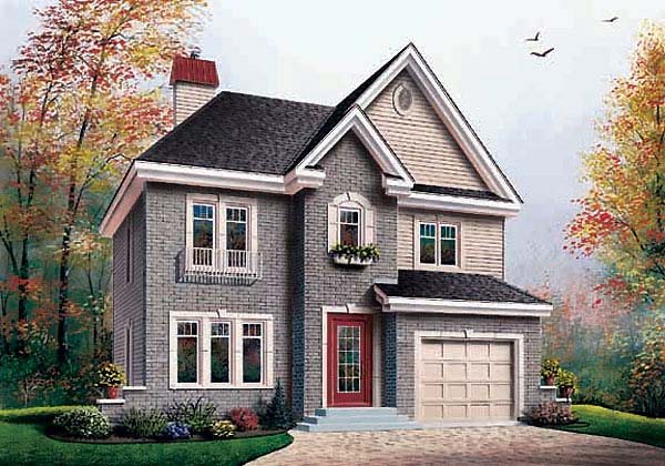 European Traditional House Plan 65453 Elevation
