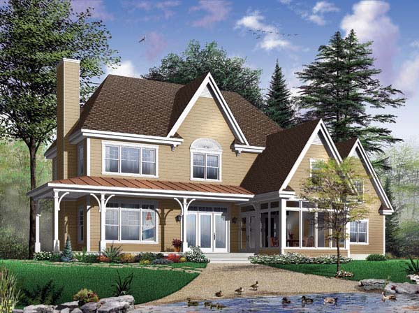 Coastal Country Traditional House Plan 65455 Elevation