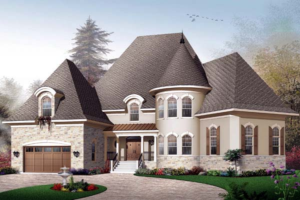 European Traditional House Plan 65457 Elevation