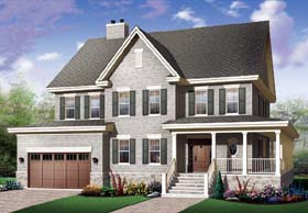 Country Farmhouse Traditional House Plan 65458 Elevation