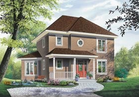 Colonial , Country , Southern House Plan 65463 with 3 Beds, 2 Baths Elevation