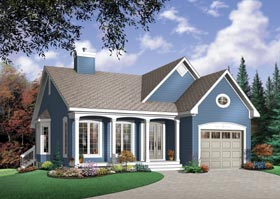 Country Ranch Traditional House Plan 65468 Elevation