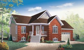 One-Story Traditional Elevation of Plan 65469