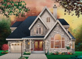 Country European Tudor Victorian House Plan 65471 Elevation
