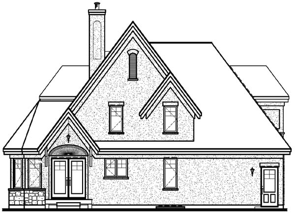 Country European Tudor Victorian House Plan 65471 Rear Elevation
