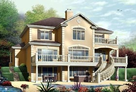 Coastal Florida Traditional House Plan 65472 Elevation