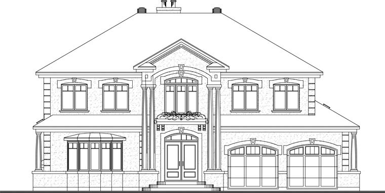 Coastal, Florida, Traditional House Plan 65472 with 4 Beds, 4 Baths, 2 Car Garage Picture 1