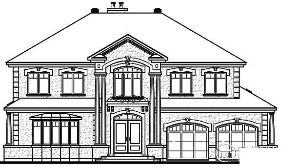 Coastal Florida Traditional House Plan 65472 Rear Elevation